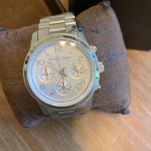 Michael Kors silver Runway watch